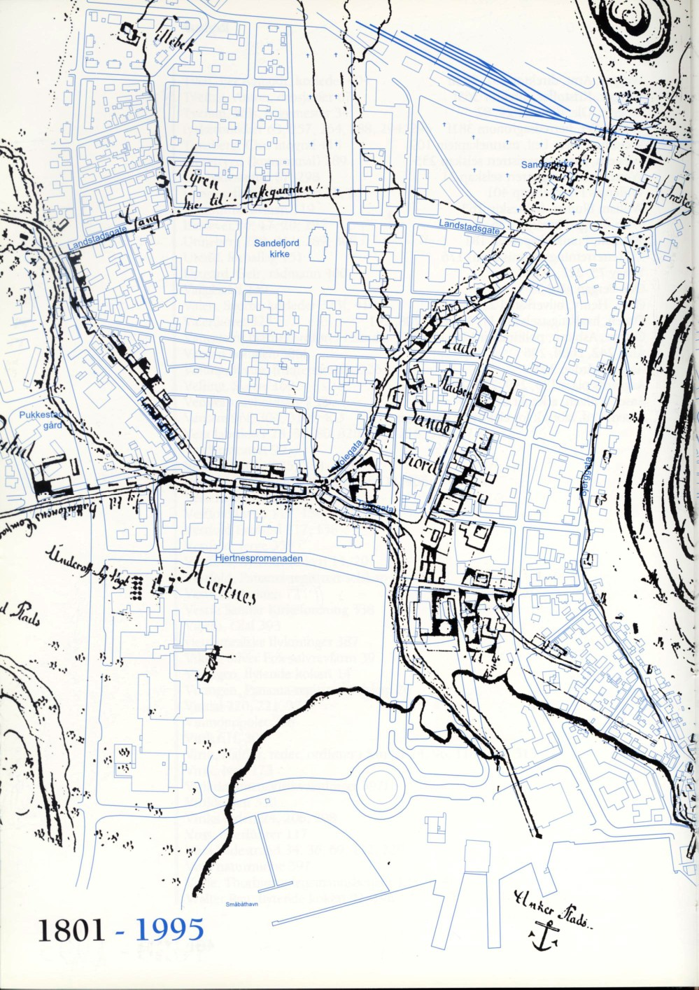 kart over sandefjord sentrum Gamle lokale kart kart over sandefjord sentrum